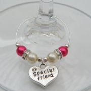 Special Friend Wine Glass Charm - Elegance Style